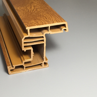 Golden Oak Black UPVC-Profile mit Holzfolie laminiert